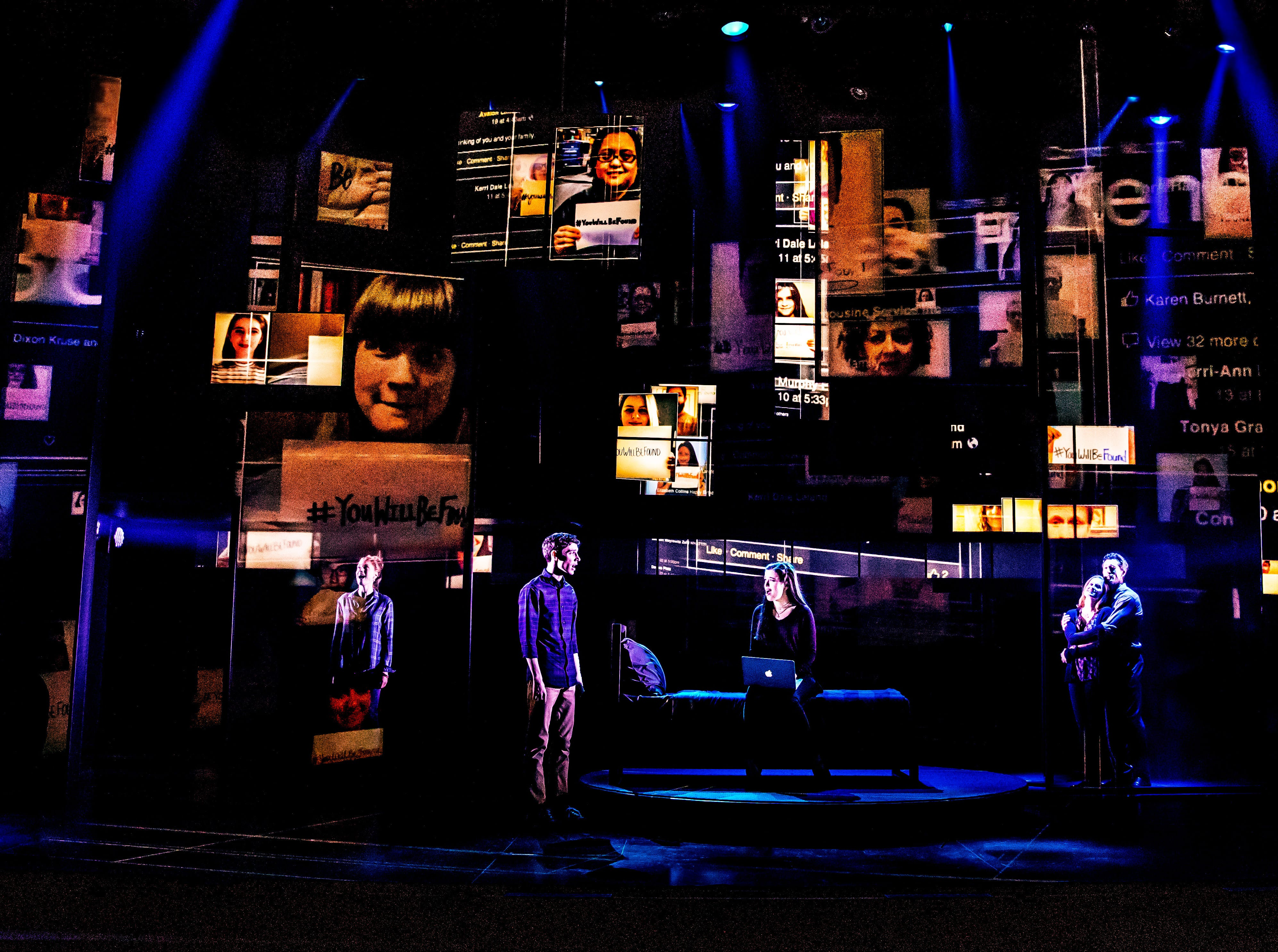 """The Company Of The First North American Tour Of """"Dear Evan Hansen."""""""