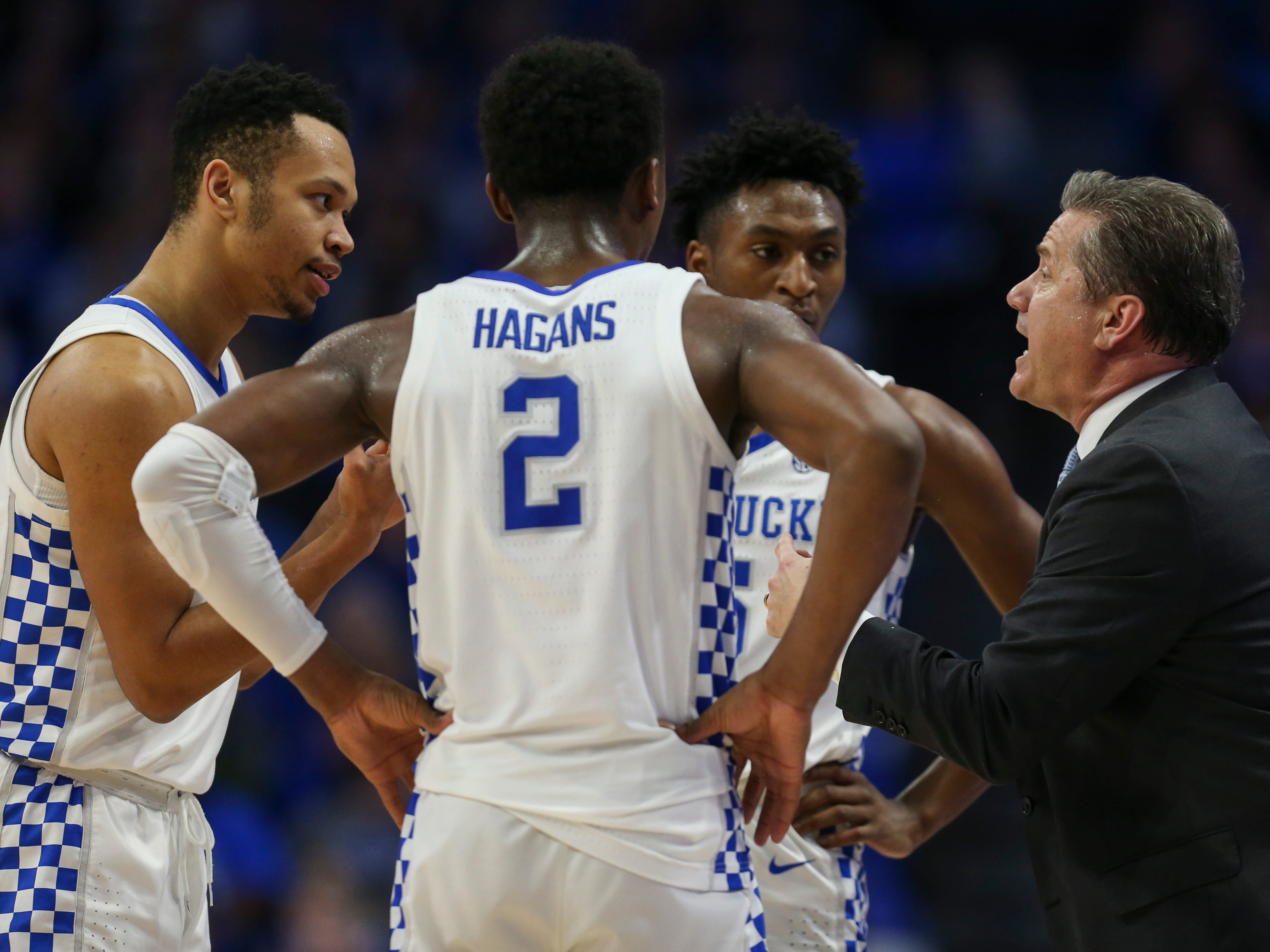 Kentucky''s John Calipari said he loved his team's toughness after the Wildcats cruised past the Gamecocks 76-48. Feb. 5, 2019