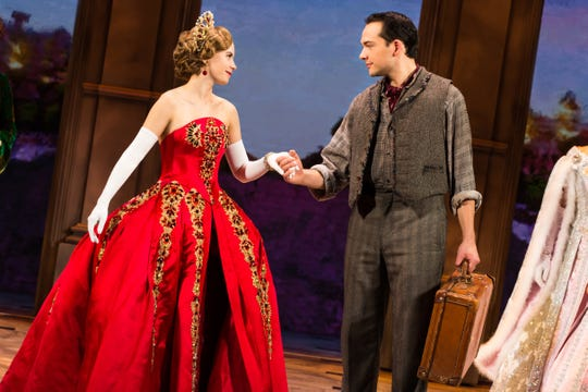 """Lila Coogan Anya And Stephen Brower Dmitry In The National Tour Of """"Anastasia."""""""