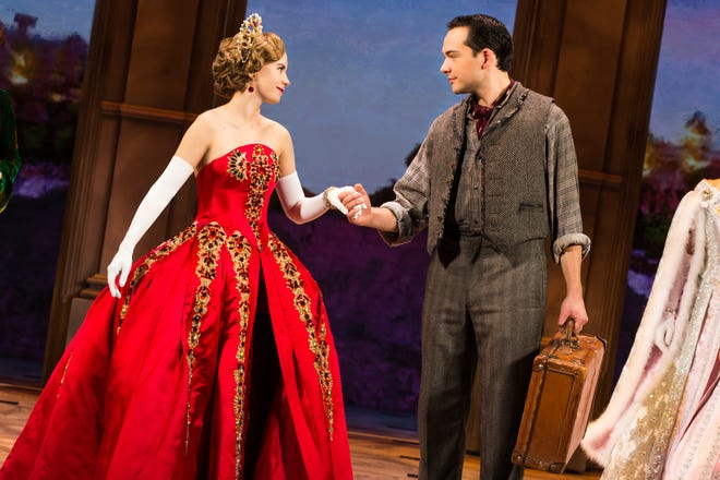 "Lila Coogan Anya And Stephen Brower Dmitry In The National Tour Of ""Anastasia."""