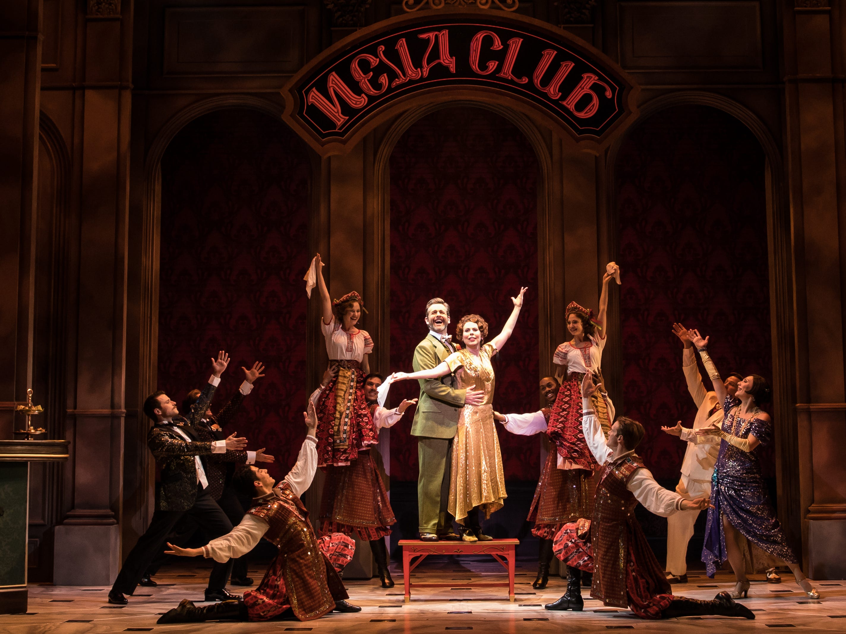 """Edward Staudenmayer, Vlad Tari Kelly Countless Lily And The Company Of The National Tour Of """"Anastasia."""""""