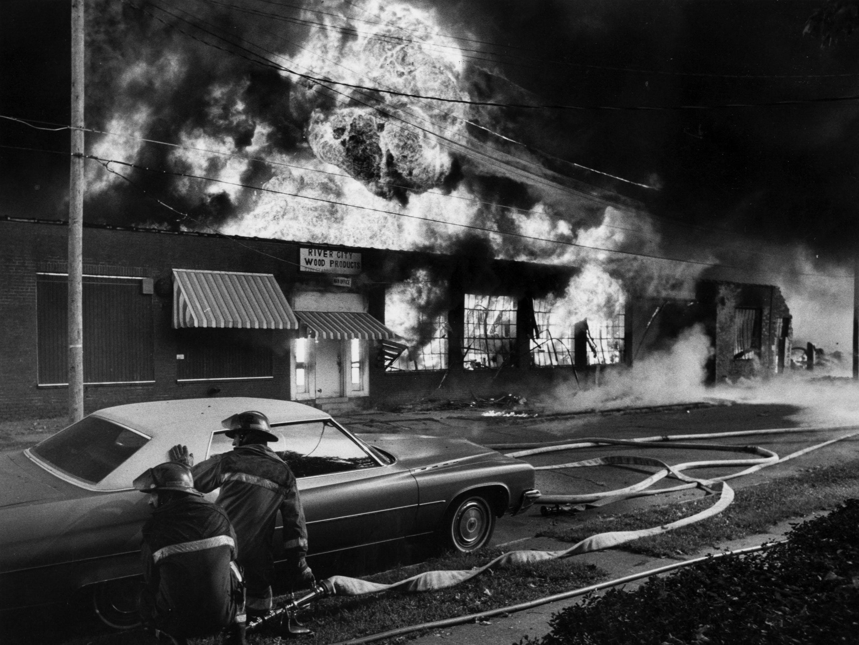 A four-alarm fire at River City Wood Products located on 22nd and Standard. 