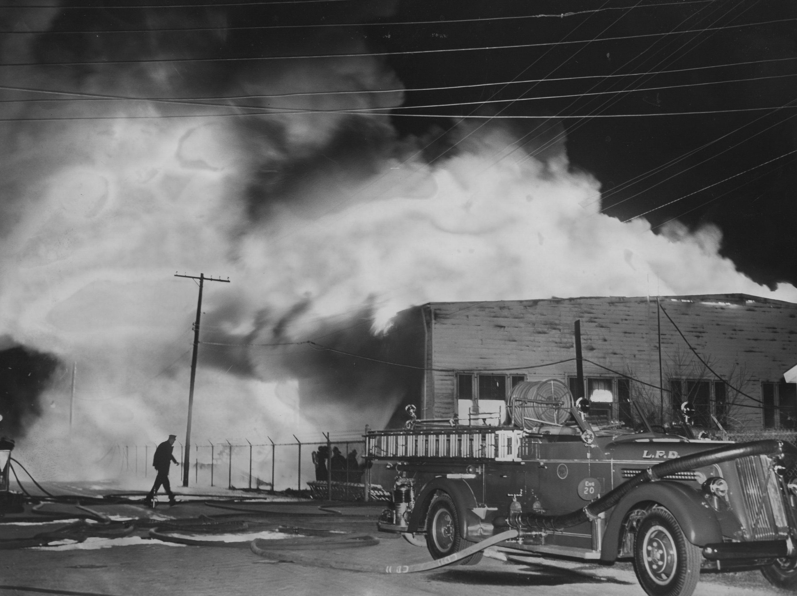 A fire at the Army Building. 