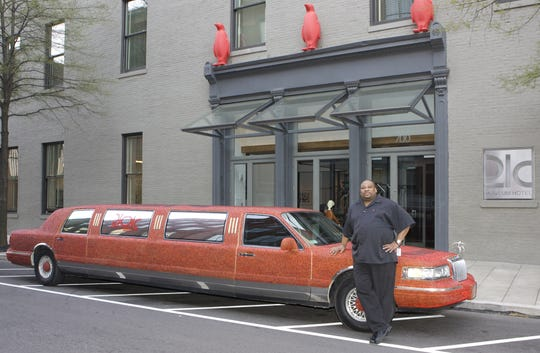 The 21c Museum Hotel's 1996 Lincoln Town Car limo.