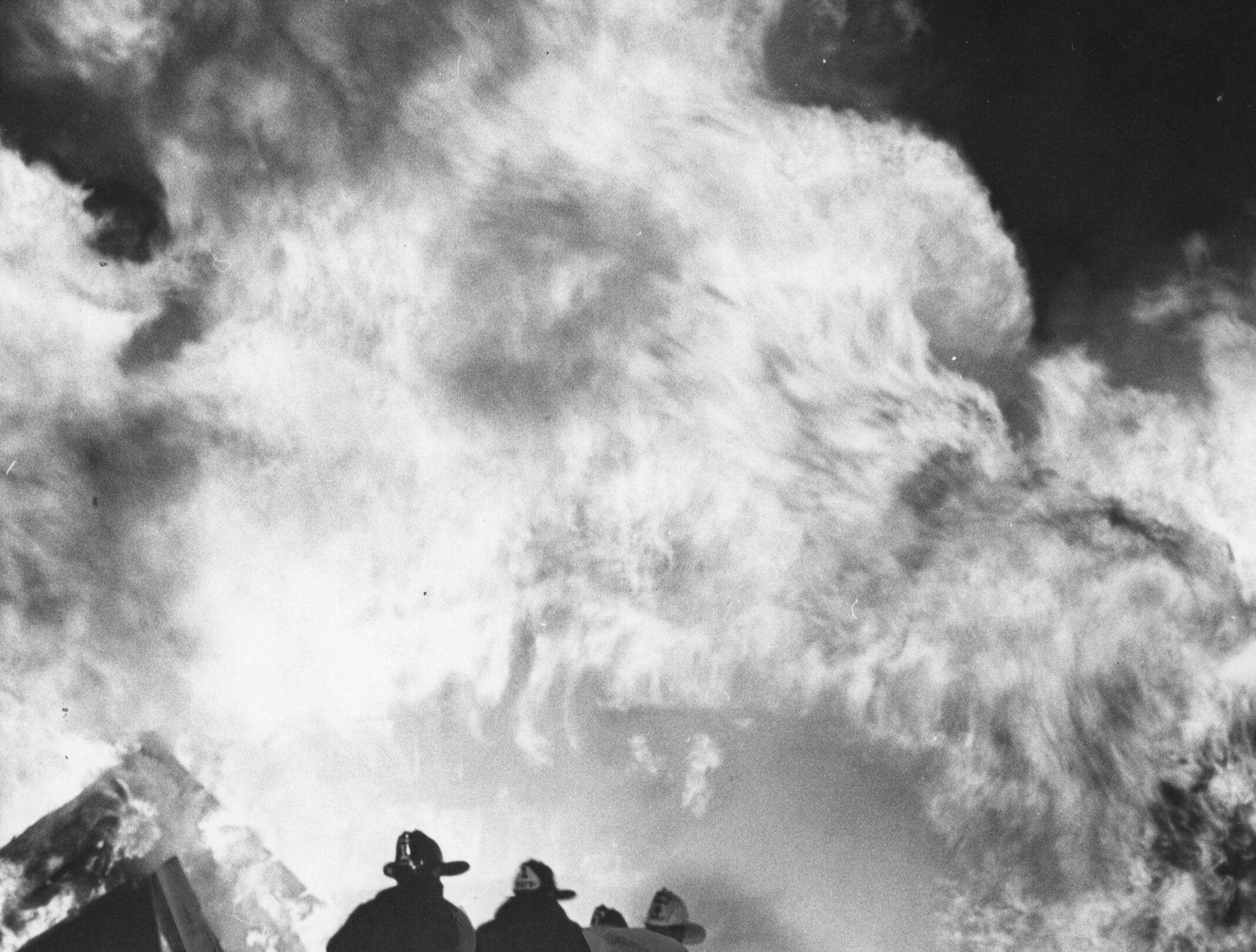 Baptism of fire was given new members of the Lake Dreamland Volunteer Fire Department with the deliberate burning of an old barn on Camp Ground Road.