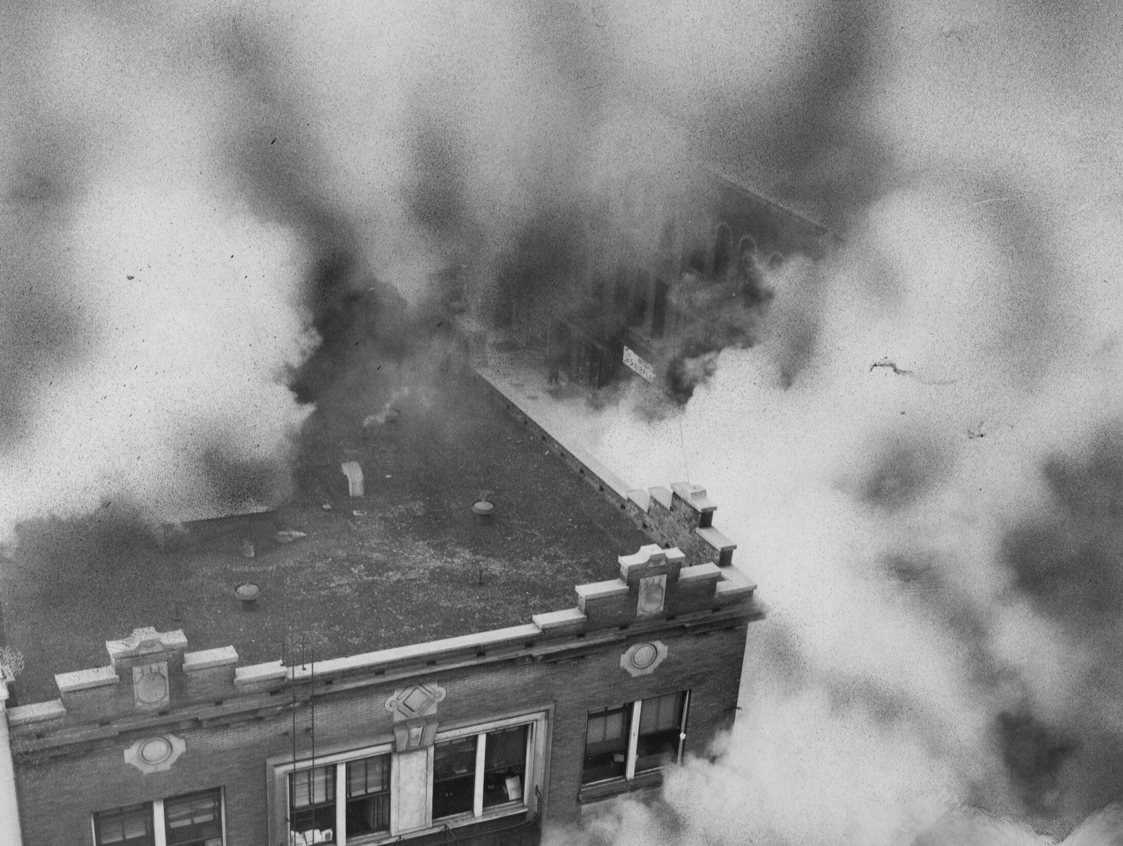 Fire at the Coleman Bldg. 
