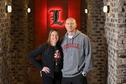 Christi and Chris Mack in their Louisville home.