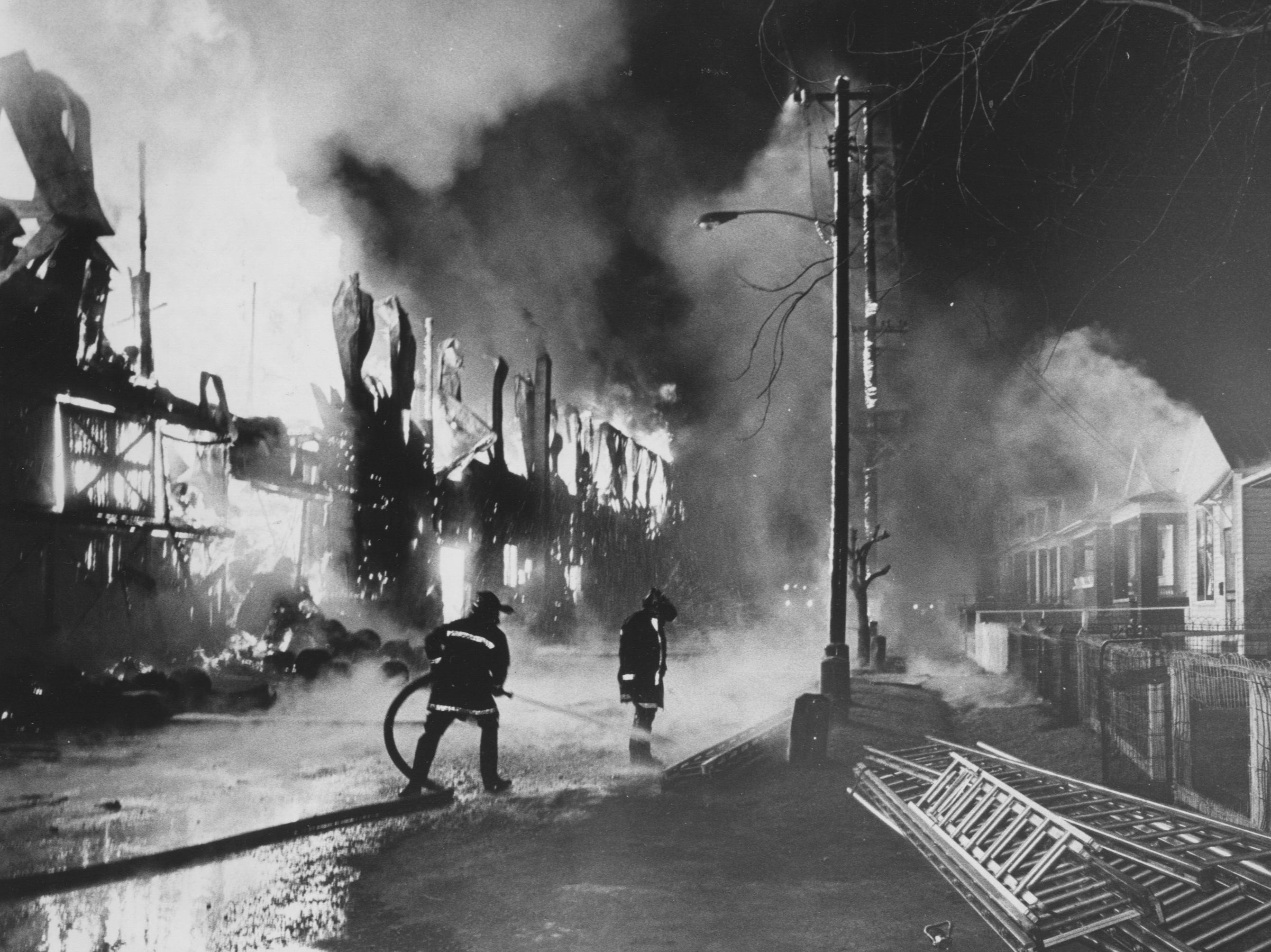 Four-alarm fire at the Louisville Sash & Door Co. 