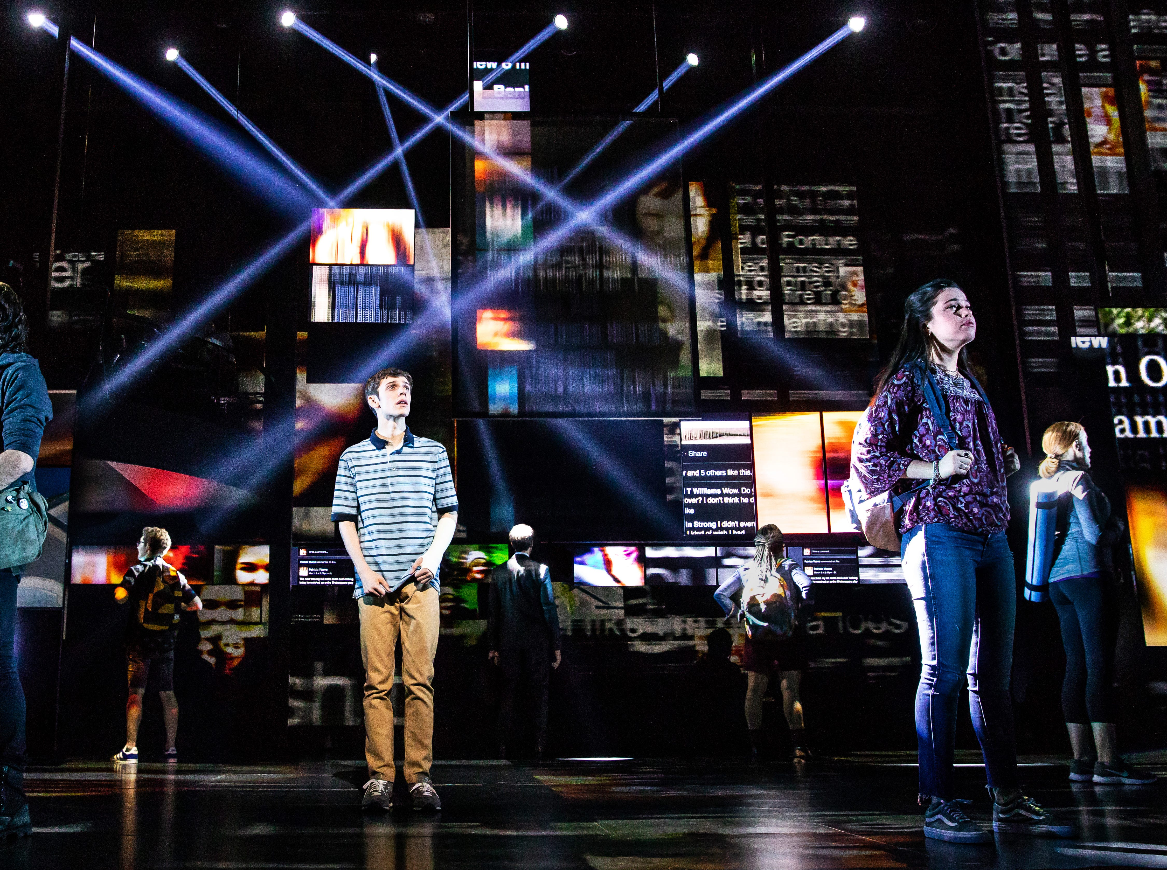 """Ben Levi Ross As Evan Hansen And The Company Of The First North American Tour Of """"Dear Evan Hansen"""""""