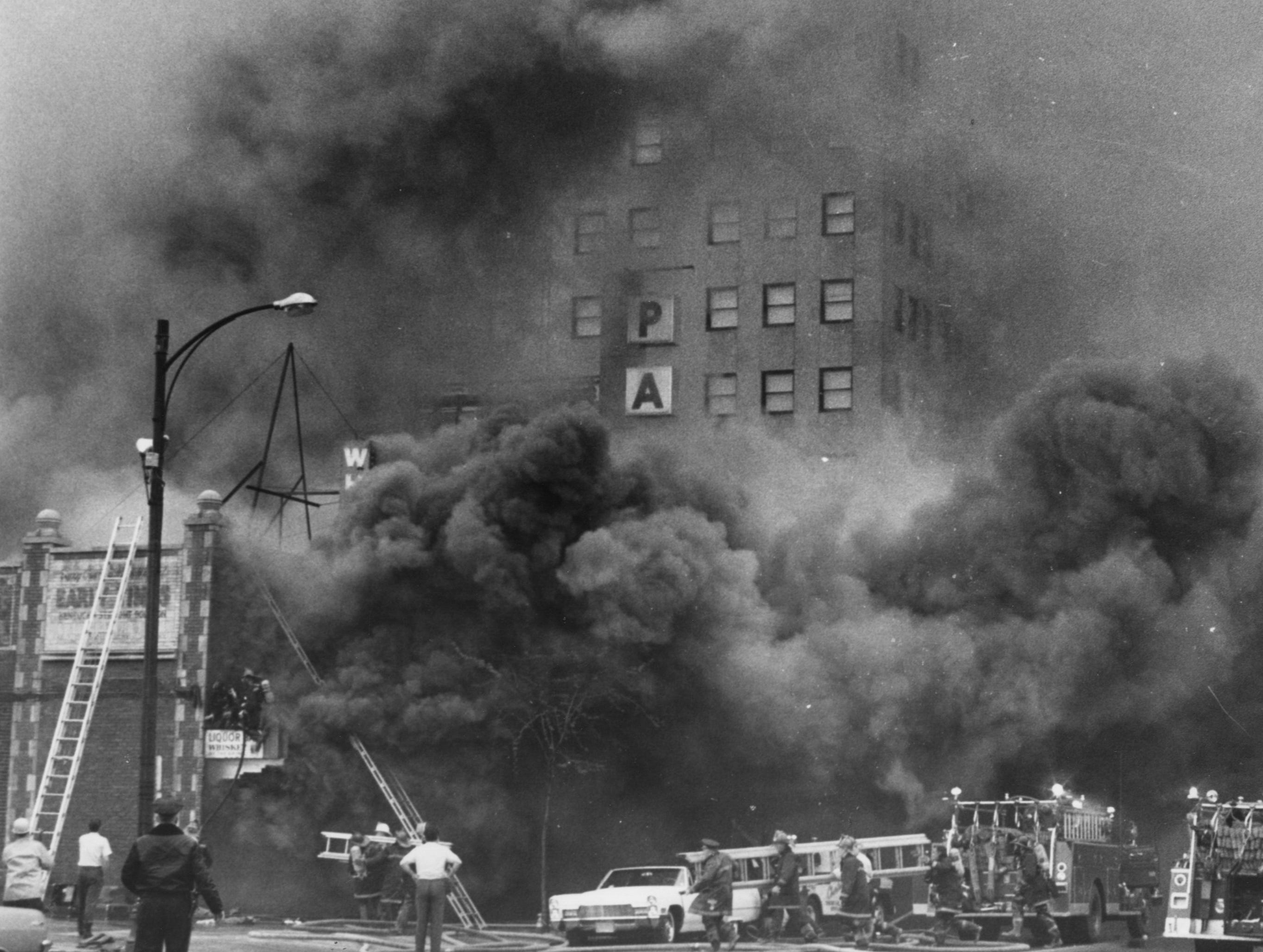 Fire in downtown Louisville. 