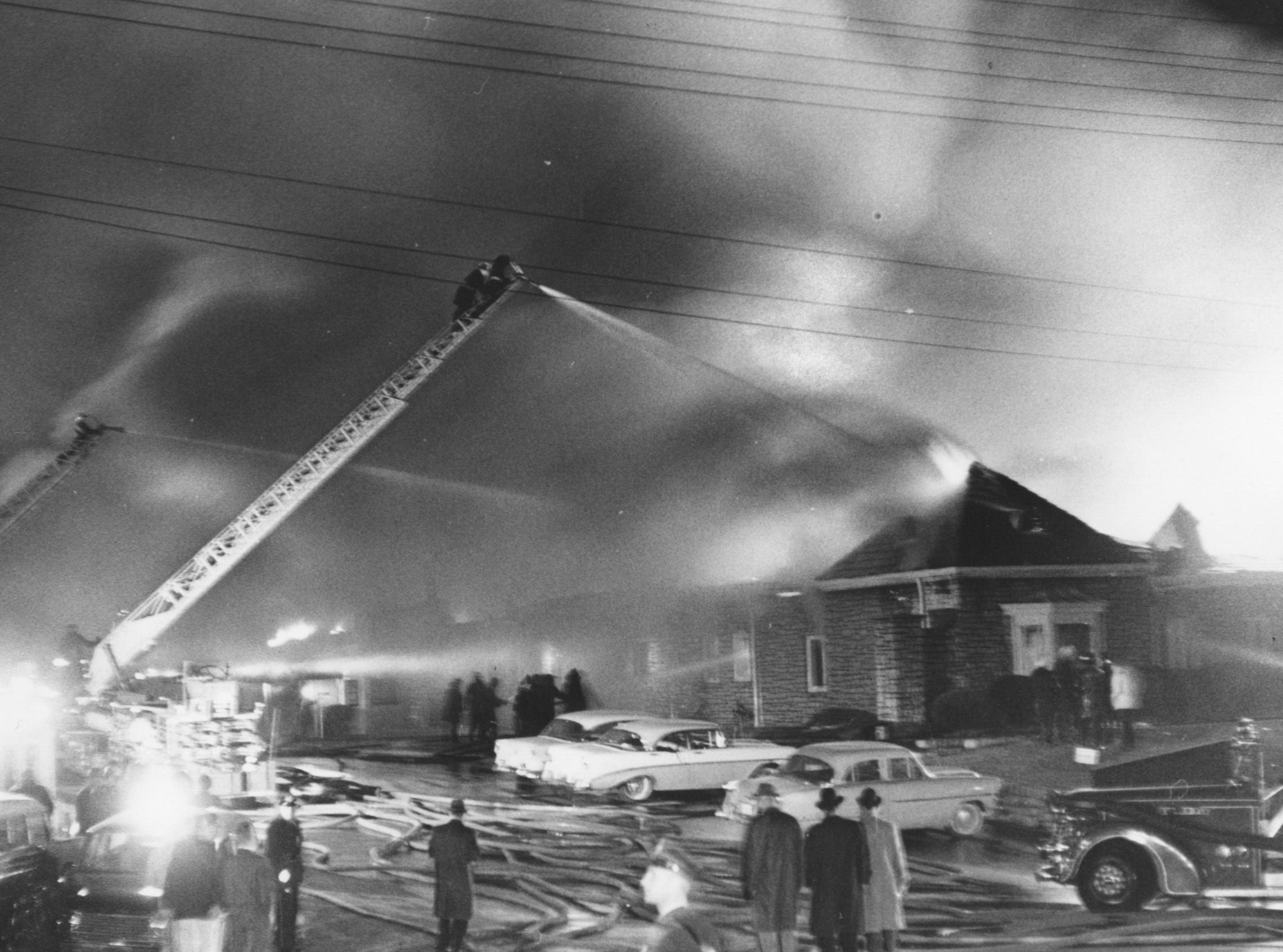 Three firemen were killed while battling the fire at the Parkmoor bowling alley.