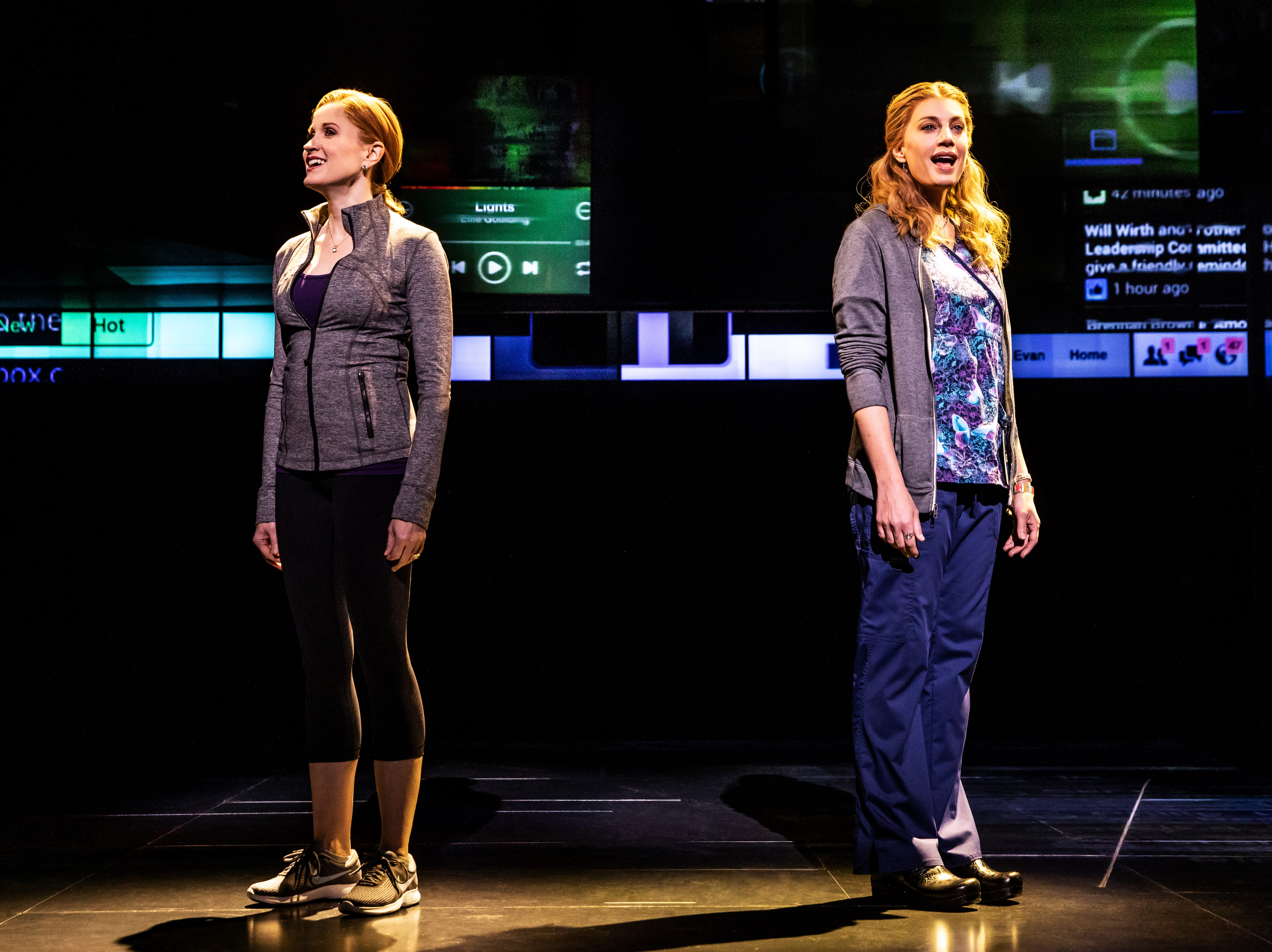 """Christiane Noll as Cynthia Murphy And Jessica Phillips as Heidi Hansen In The First North American Tour Of """"Dear Evan Hansen"""""""