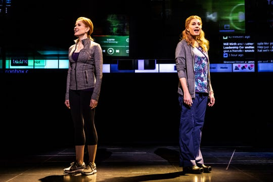 "Christiane Noll as Cynthia Murphy And Jessica Phillips as Heidi Hansen In The First North American Tour Of ""Dear Evan Hansen"""
