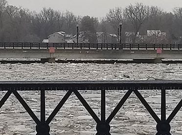 Cindy Selden, a lifelong Portland resident, took photos of the ice jam and flooding in Portland on Wednesday.