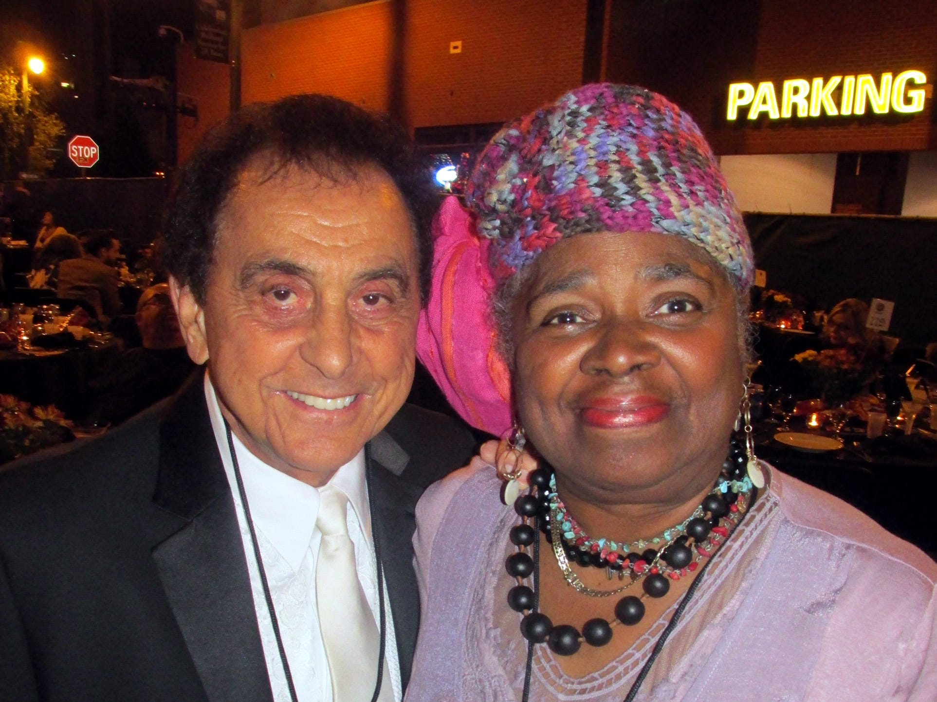 Oct. 4, 2014 - Carla Thomas and George Klein, event master of ceremonies, at The Blues Ball.