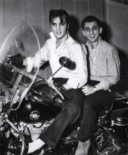 Going places: Elvis and George Klein, 1957.