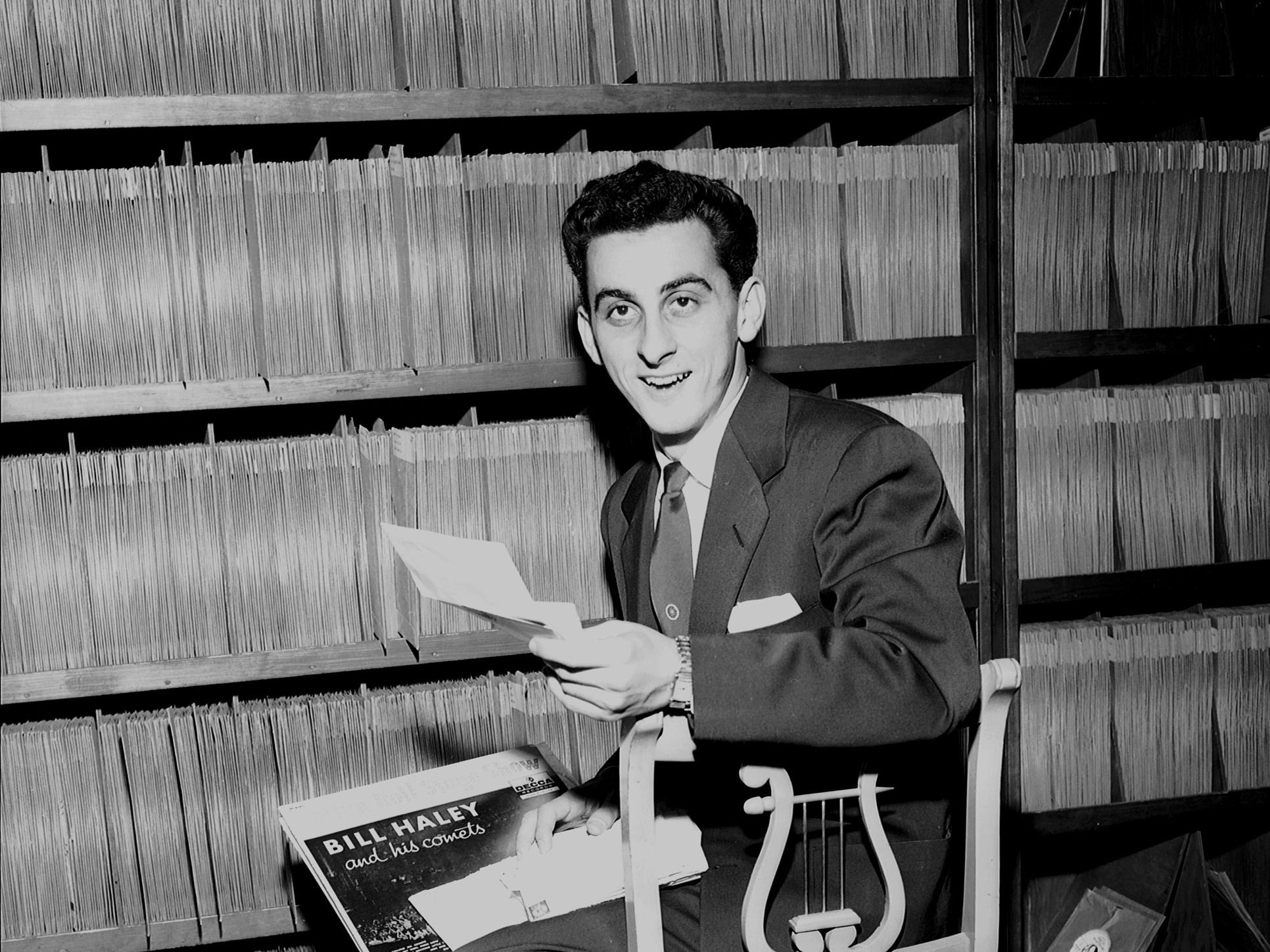 """George Klein , 20, Memphis State College senior who doubles as student and disc jockey. His """"Rock And Roll Ballroom"""" was a popular new attraction on radio station WMC in October 1956."""
