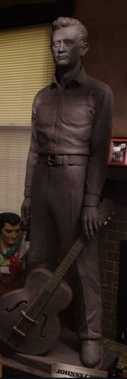 Johnny Cash statue to be erected outside 999 South Cooper. Cash's first performance with the Tennessee Two happened at the church next door in 1954.