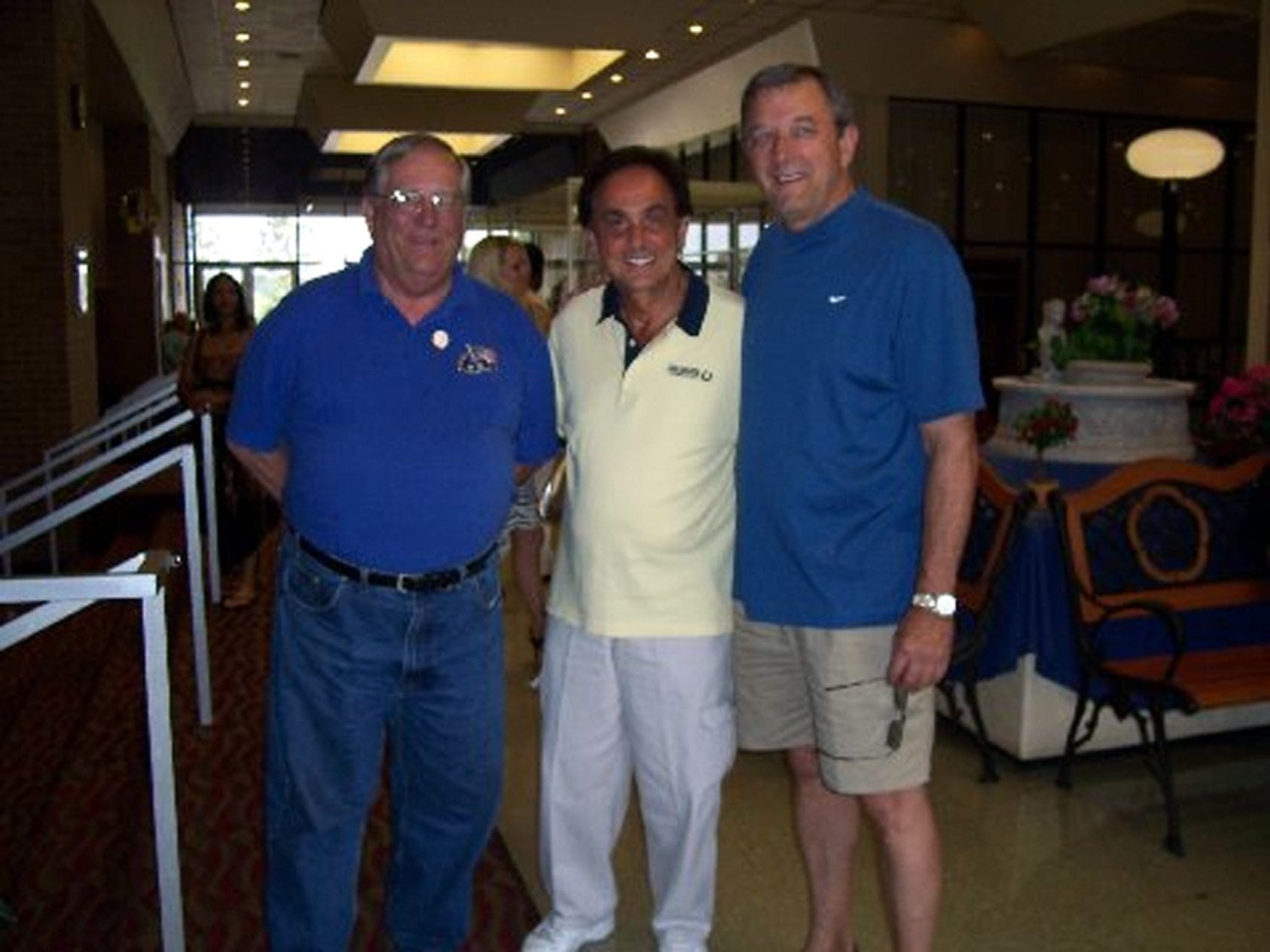 """Famed deejay George Klein (middle) and longtime of friend of Elvis Presley, was warmly greeted to the concert event by Millington Mayor Richard Hodges and former Millington alderman Dennis Wages, longtime friend of George Klein. Mayor Hodges said, """"It was perfect...anyone who didn't attend missed great performances. Despite the reason for the benefit, 'we were big in spirit.'"""""""