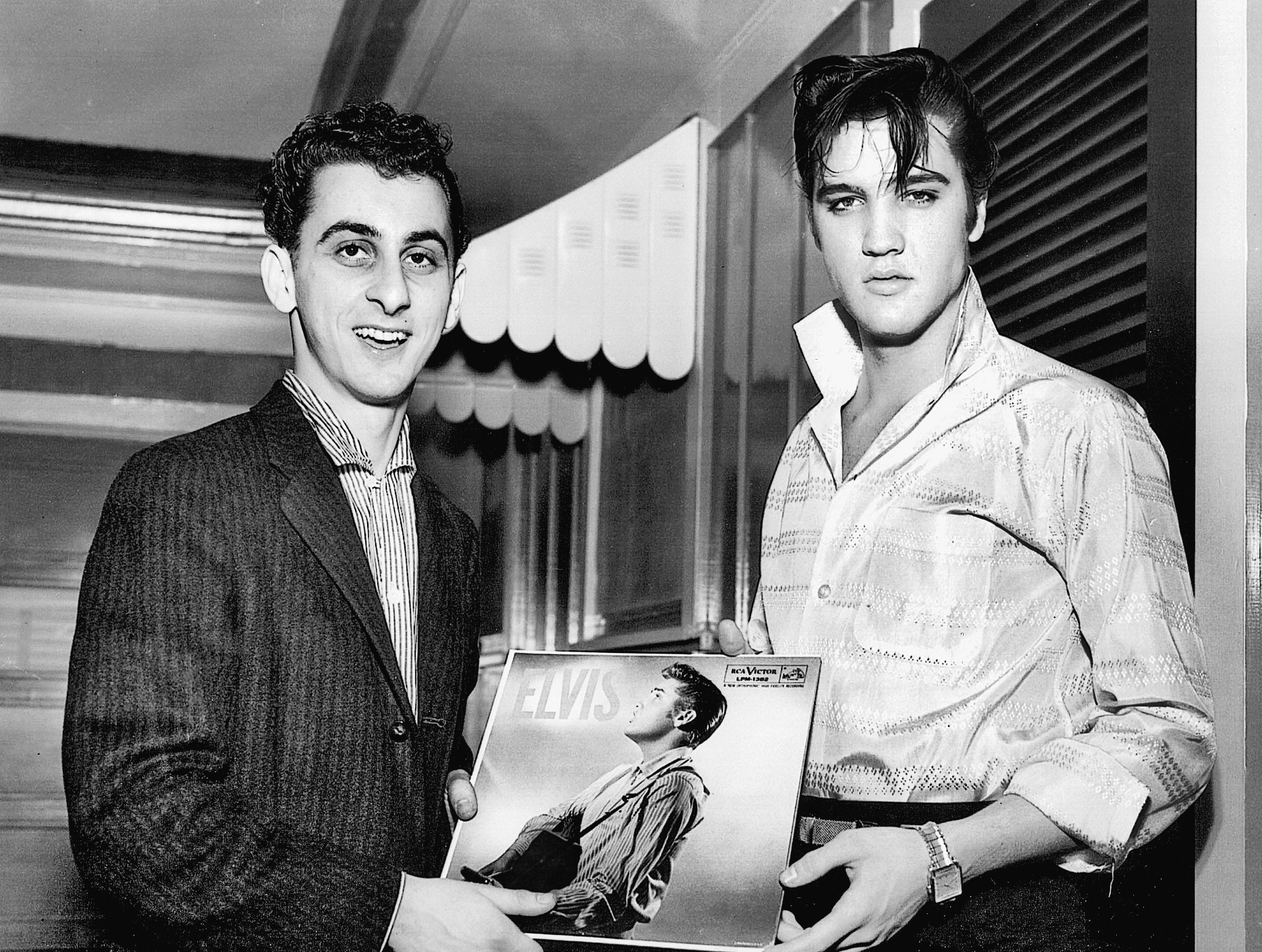 """George Klein and Elvis Presley; from the book """"Elvis - My Best Man"""" The Crown Publishing Group"""