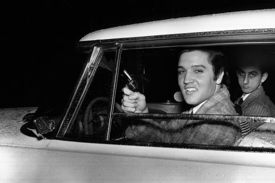 Elvis Presley, seen here in 1957, was an early inspiration for Jethro Tull frontman Ian Anderson.