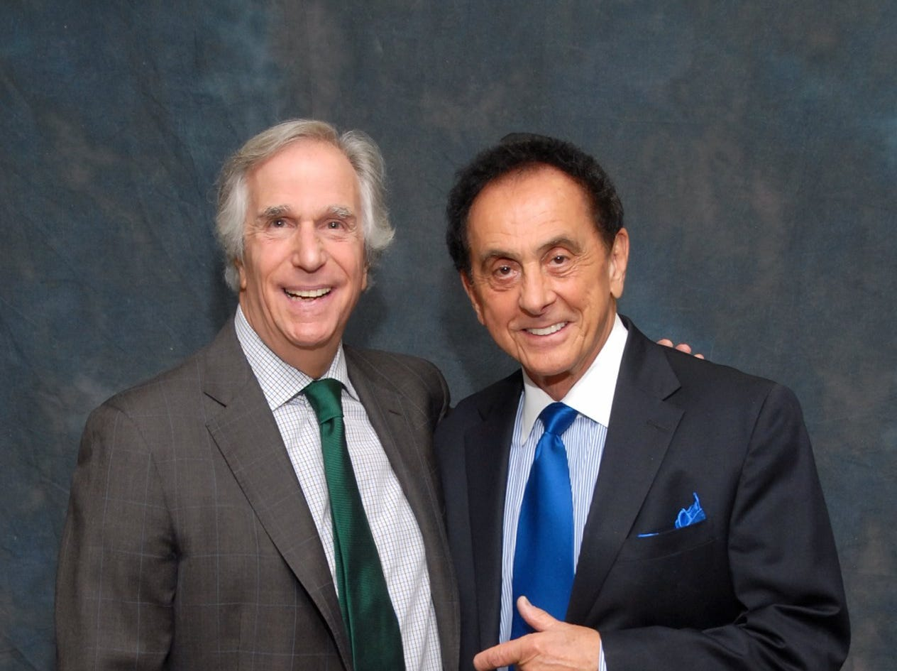 MJHR's anniversary event was emceed by Memphis radio personality George Klein (right) and featured special guest Henry Winkler.