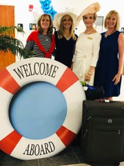 Maureen Hull, Donna Kaczka, Helen McCullough and Julie Whitney welcome over 300 aboard.