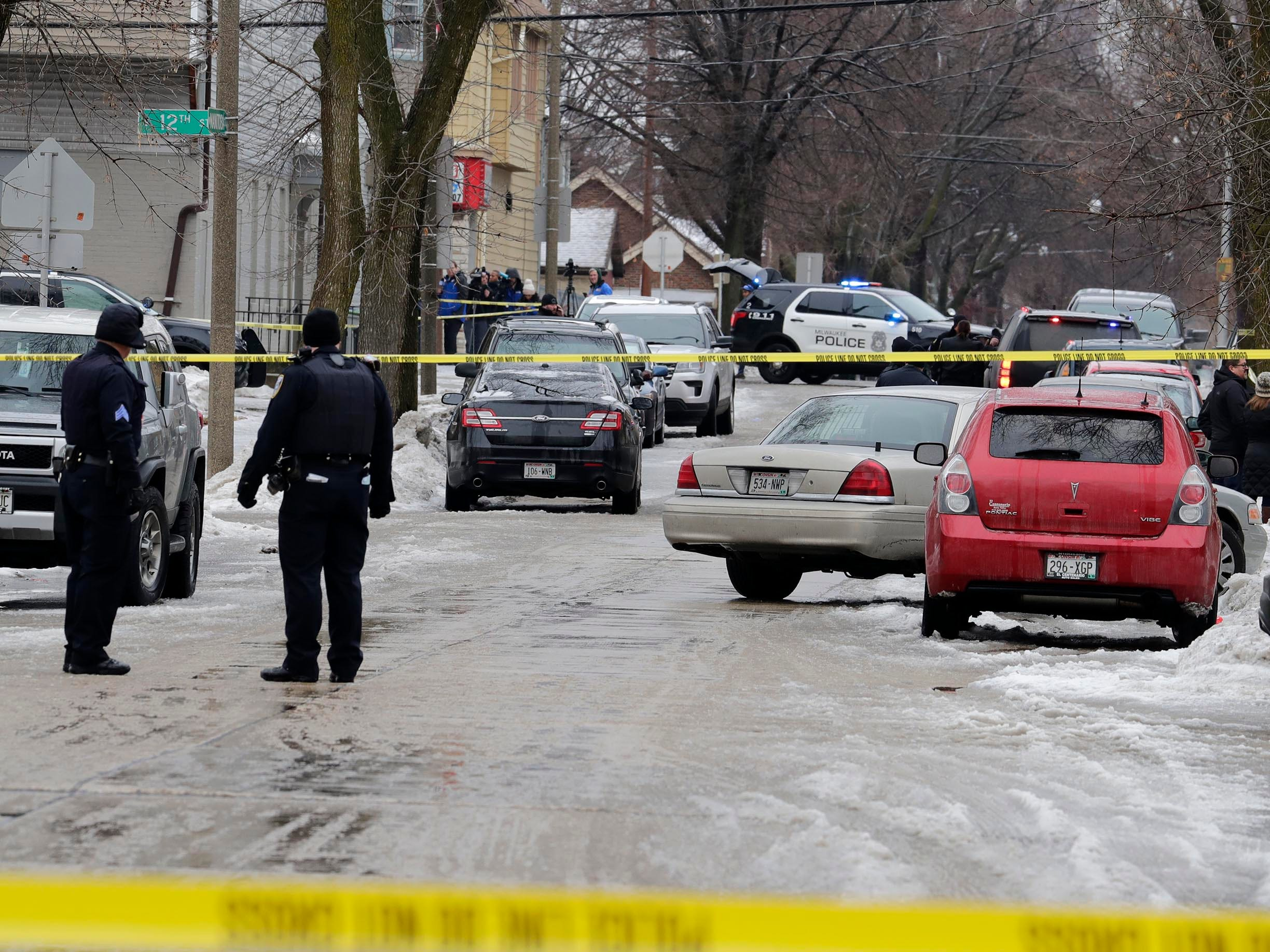 A number of streets were blocked off Wednesday morning as police responded to the shooting of an officer.