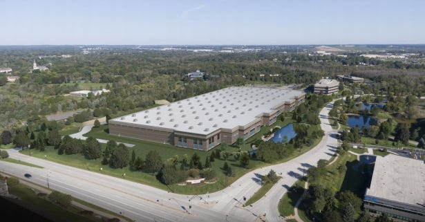 Weas Development Co. is proposing six buildings across from the Woodland Prime business park in Menomonee Falls. The business park will include Leonardo DRS' new manufacturing facility and a Milwaukee Tool expansion.
