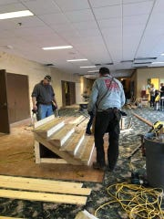 Volunteers helped the new Oconomowoc church Thirst move into the former Olympia Conference Center in January and February.
