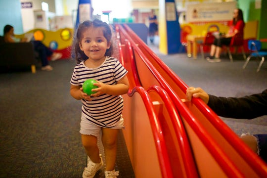 There are all sorts of ways to play with balls at the Discovery Center Museum in Rockford.