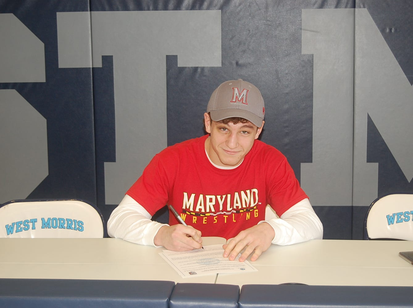 West Morris senior Justin LeMay signed a National Letter of Intent with Maryland wrestling.
