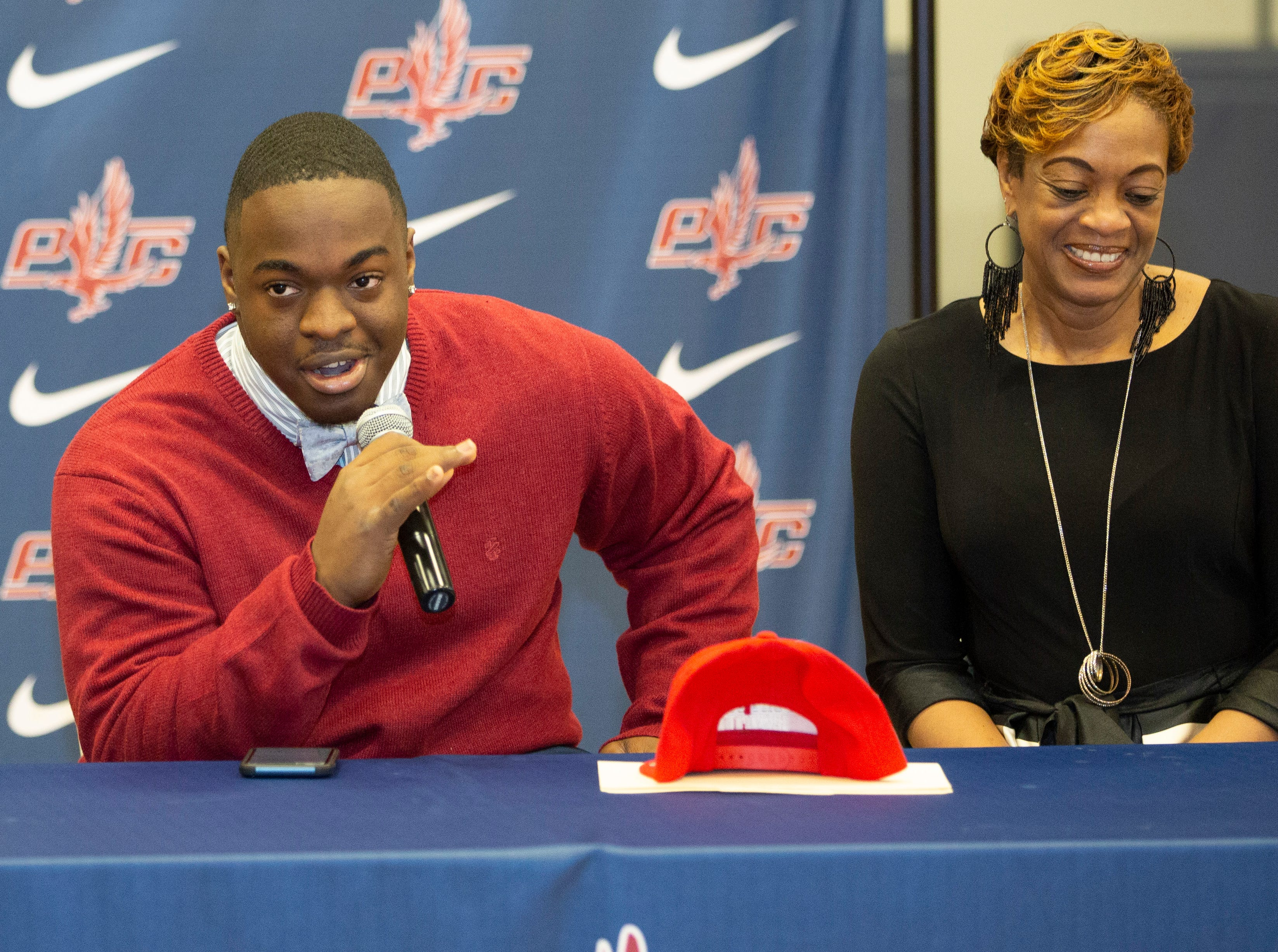 Jordan Hines, a football player at Park Crossing, signed with Fort Scott Community College.