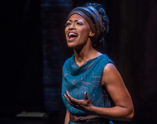 "Crystal Sha'nae as Nina Simone in ASF's  ""Nina Simone: Four Women."""