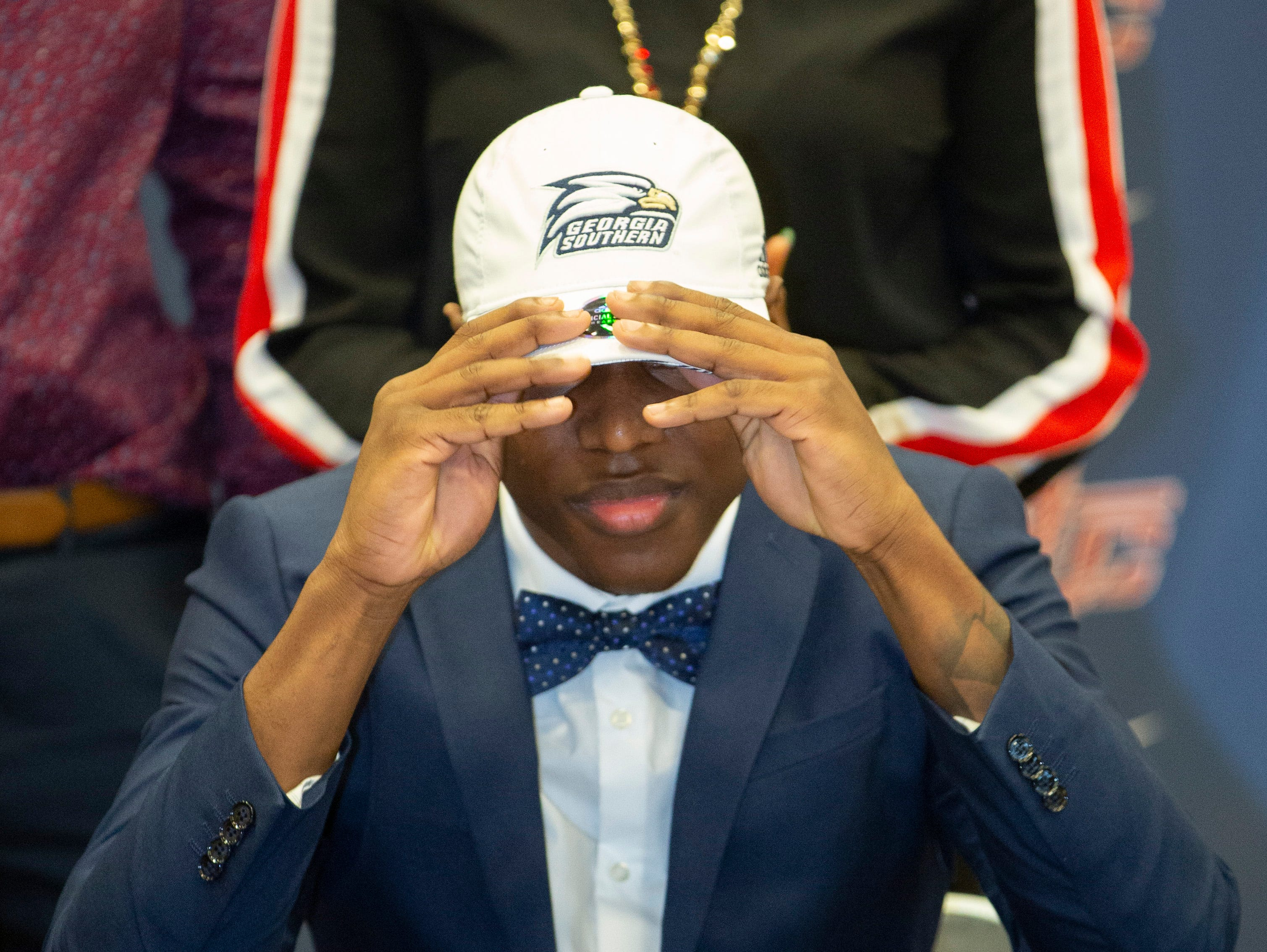 Tremaine Osborne, a football player at Park Crossing, signed with Georgia Southern.