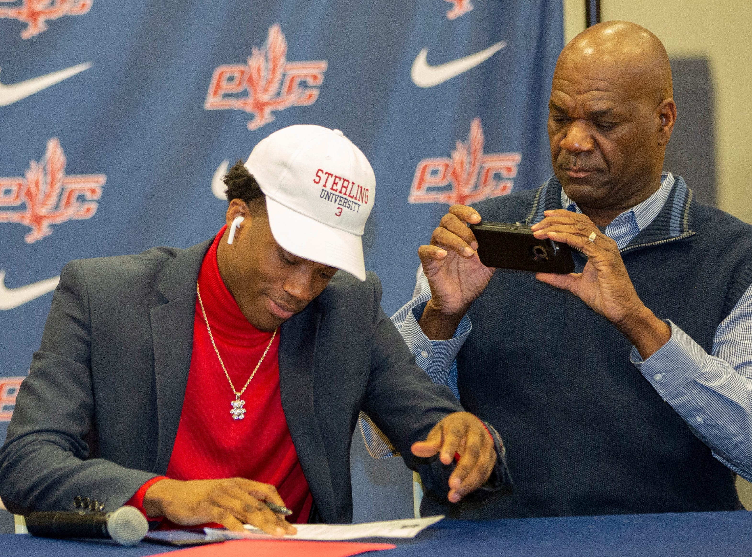 Tacarius Buford, a football player at Park Crossing, signed with Sterling College.