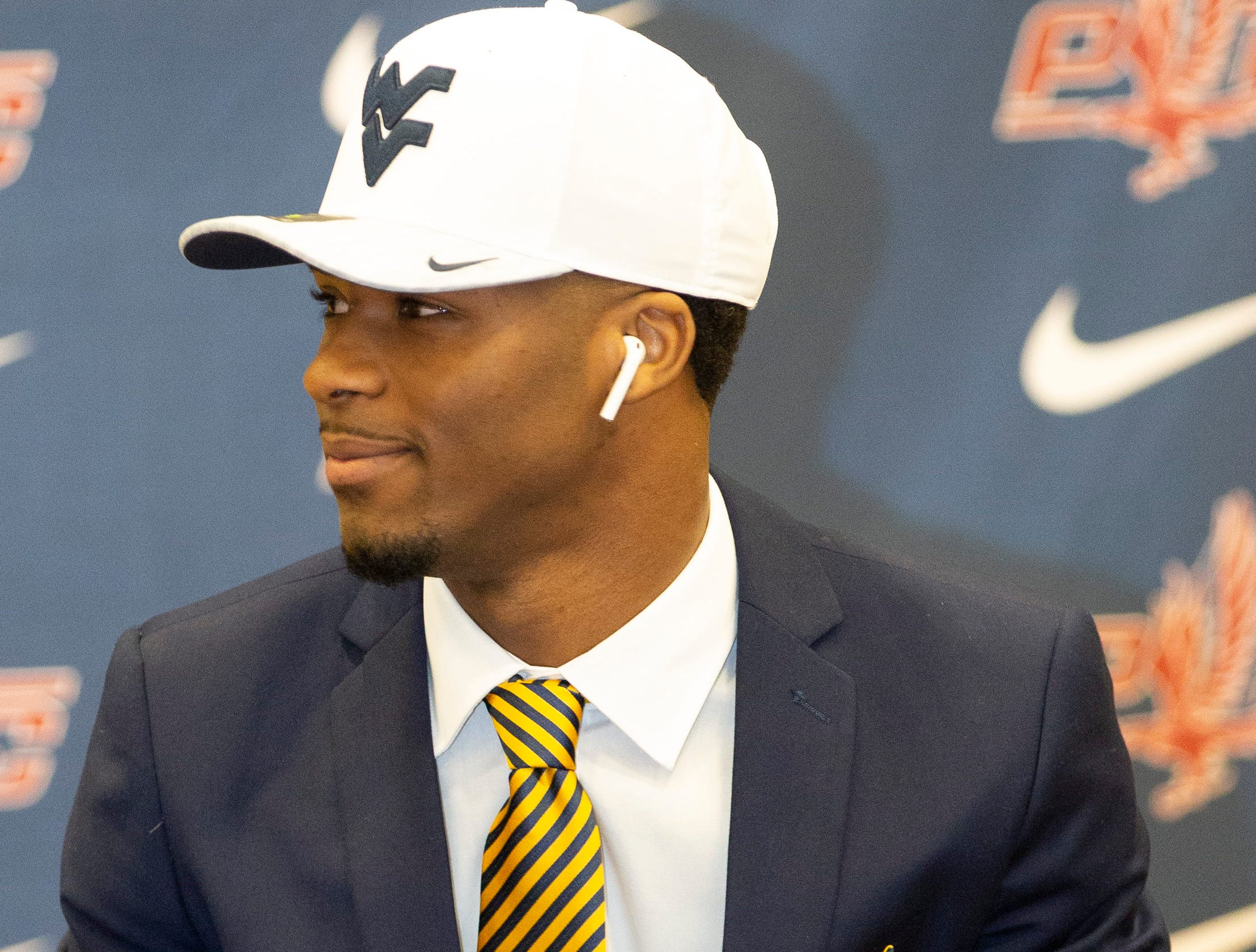 Tacorey Turner, a football player at Park Crossing, signed with West Virginia.