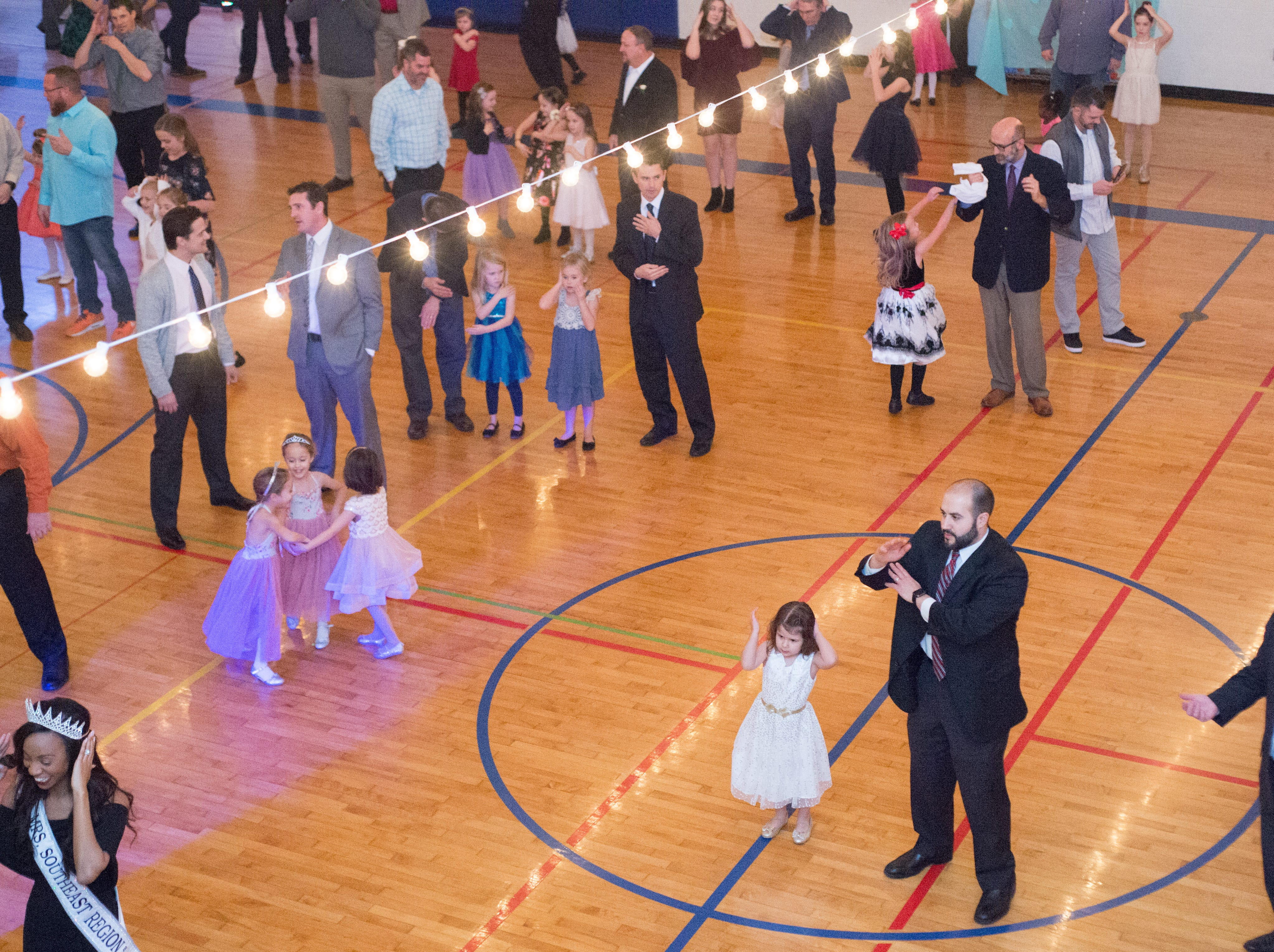 The Daddy Daughter Dance drew a large crowd to Long Community Center on Saturday, Feb. 2, 2019.
