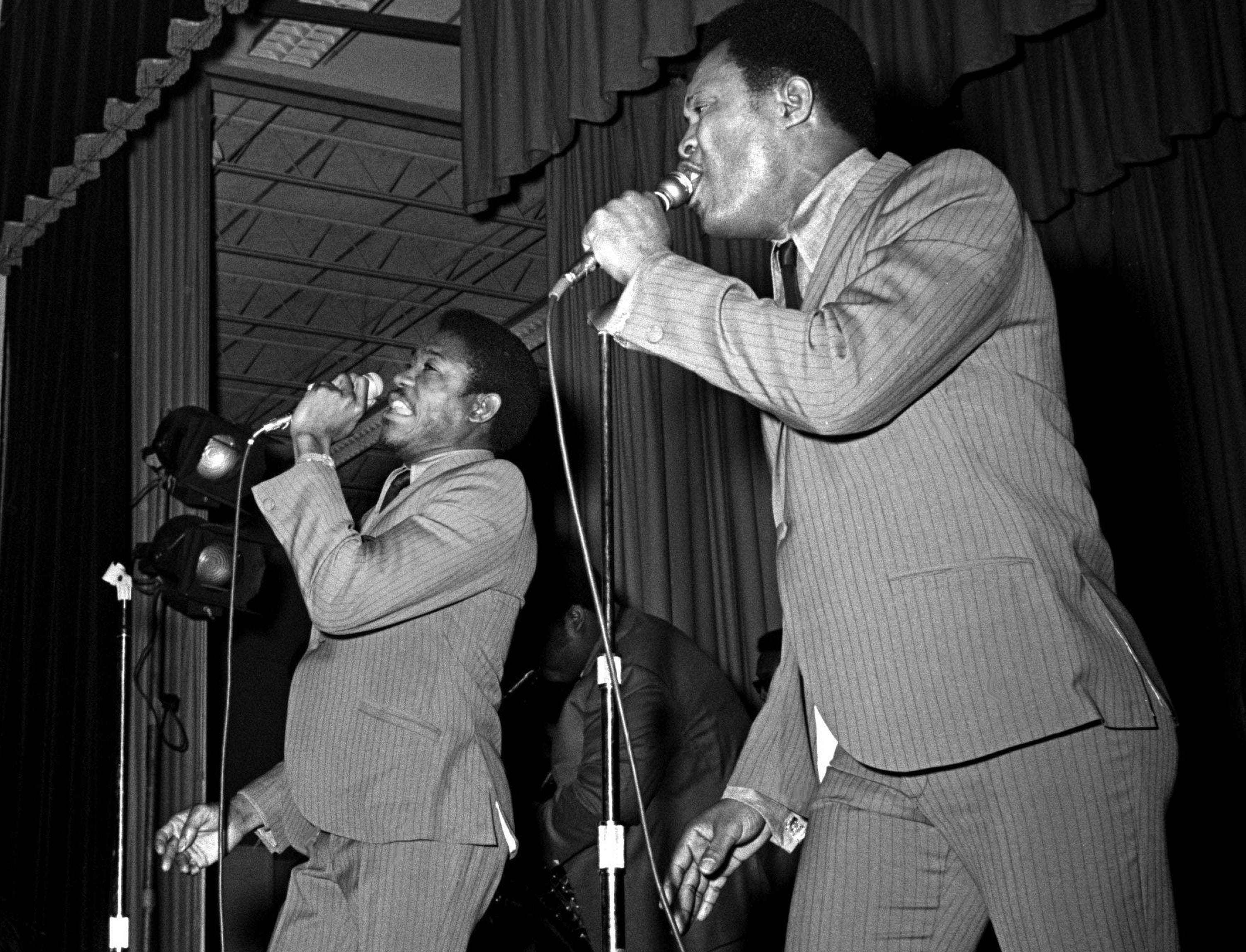 "Sam and Dave of Memphis are generating such soul, including their Grammy nominated ""I Thank You,"" that the Grammy awards show audience gave it a standing ovation at the National Guard Armory in Nashville March 12, 1969."