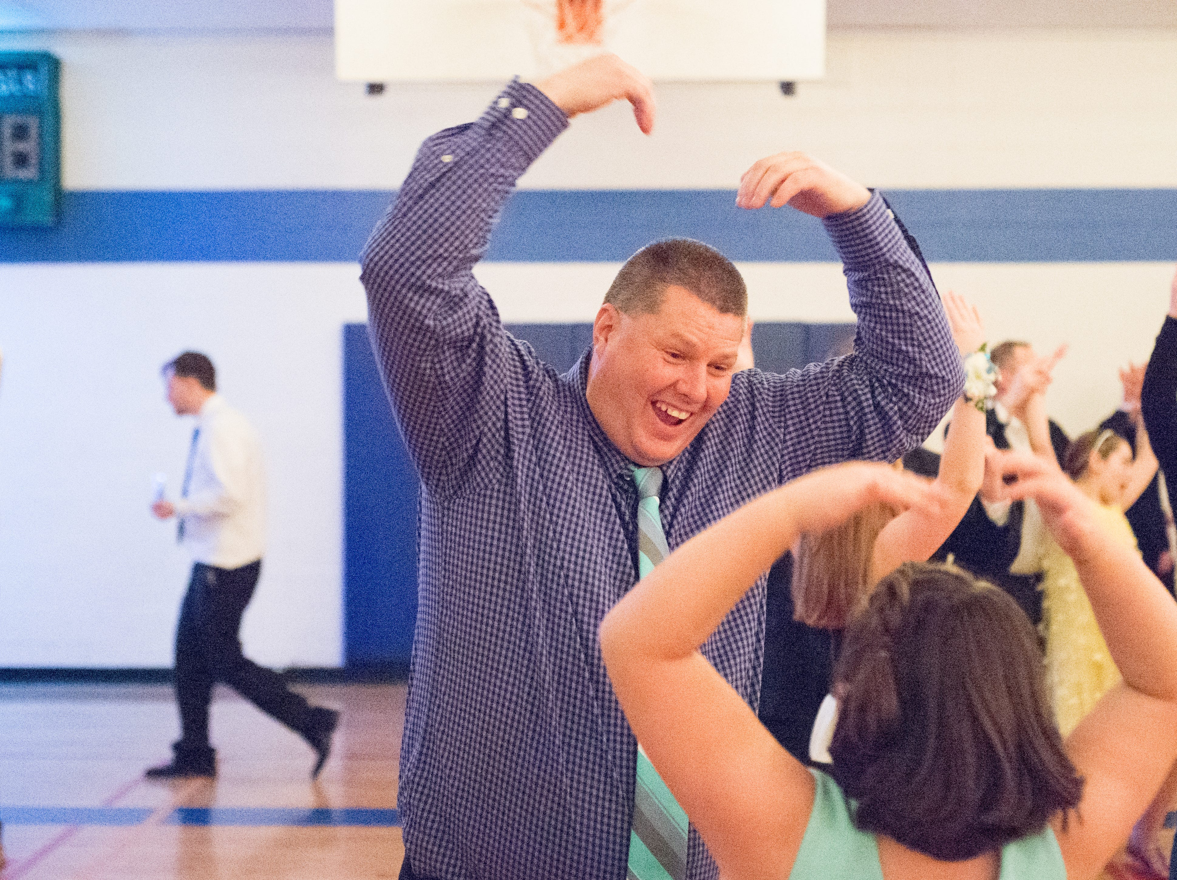 The YMCA was a hit during a Daddy Daughter Dance held at Delmas Long Community Center on Saturday, Feb. 2, 2019.