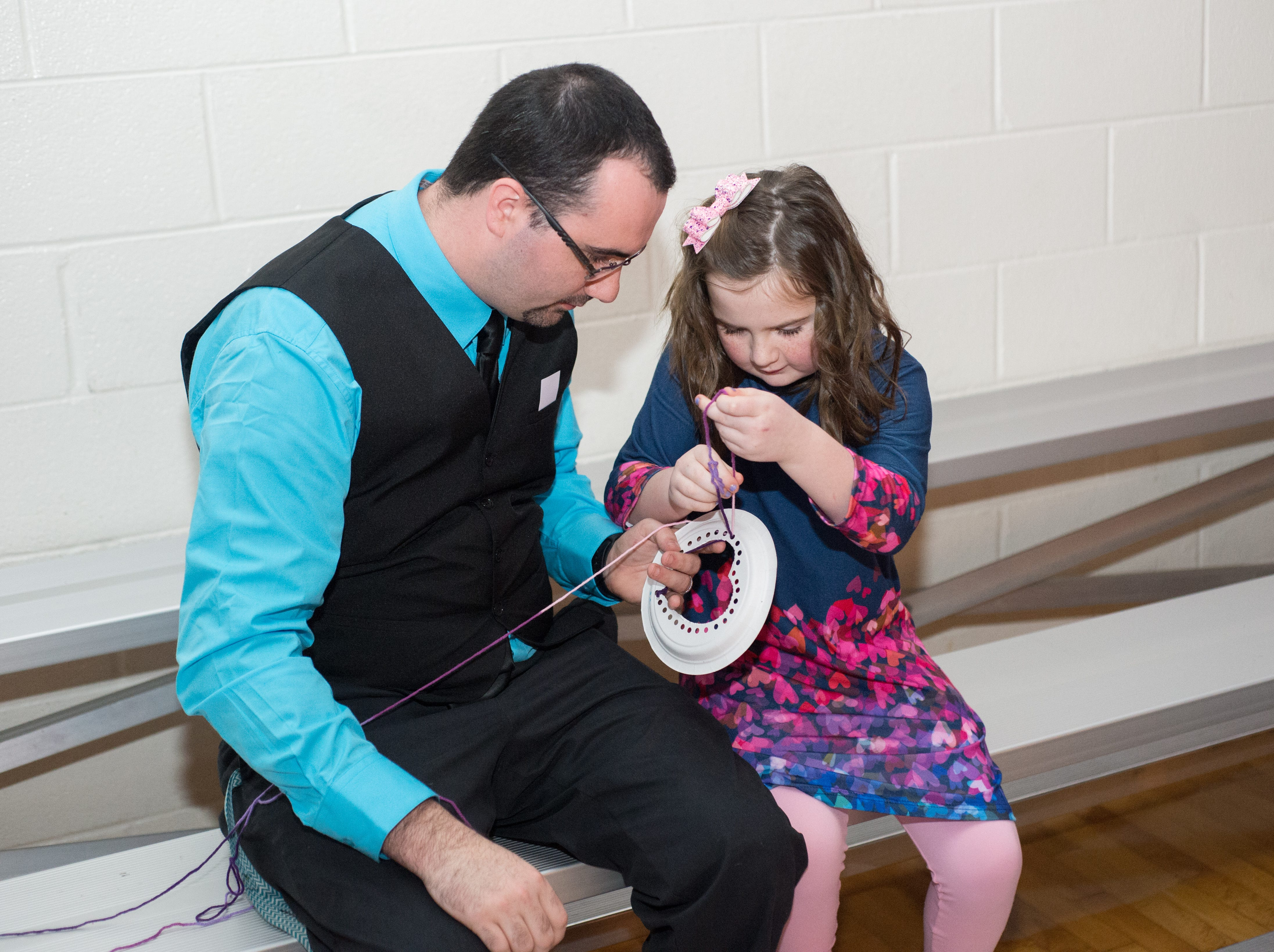 A fun Craft was available during a Daddy Daughter Dance held at Delmas Long Community Center on Saturday, Feb. 2, 2019.
