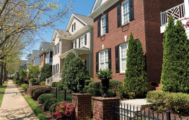 Tall, skinny homes are part of the preliminary master development plan of The Meadows.