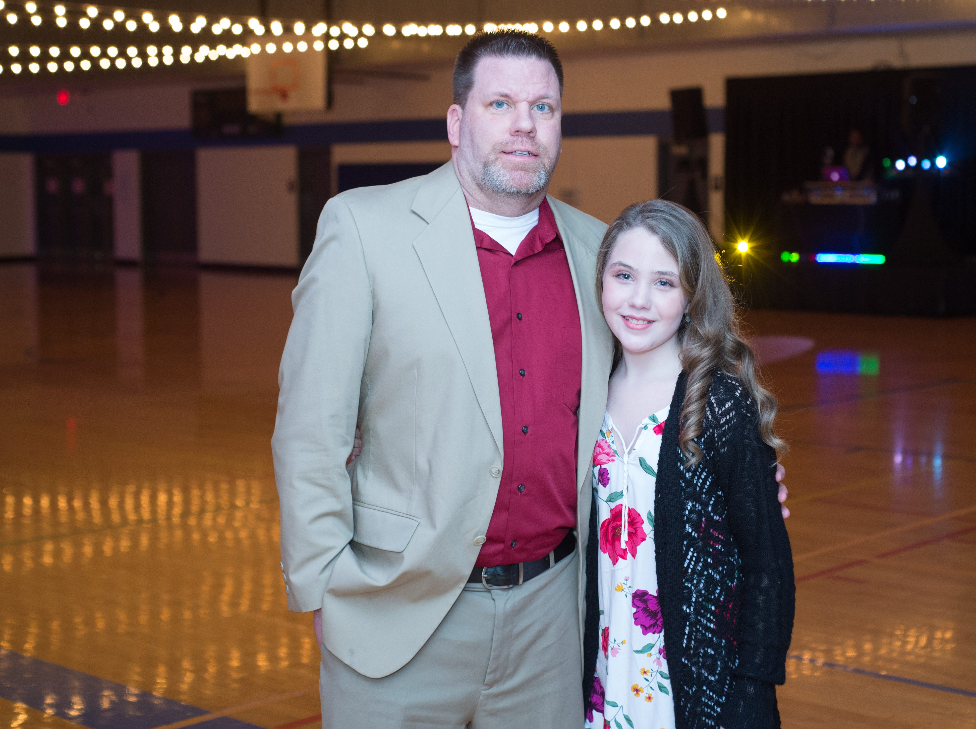 Attendees enjoy a Daddy Daughter Dance held at Delmas Long Community Center on Saturday, Feb. 2, 2019.