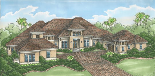 The Sophia III model, by Stock Custom Homes, overlooks the 10th fairway of the community's Lakes Course.
