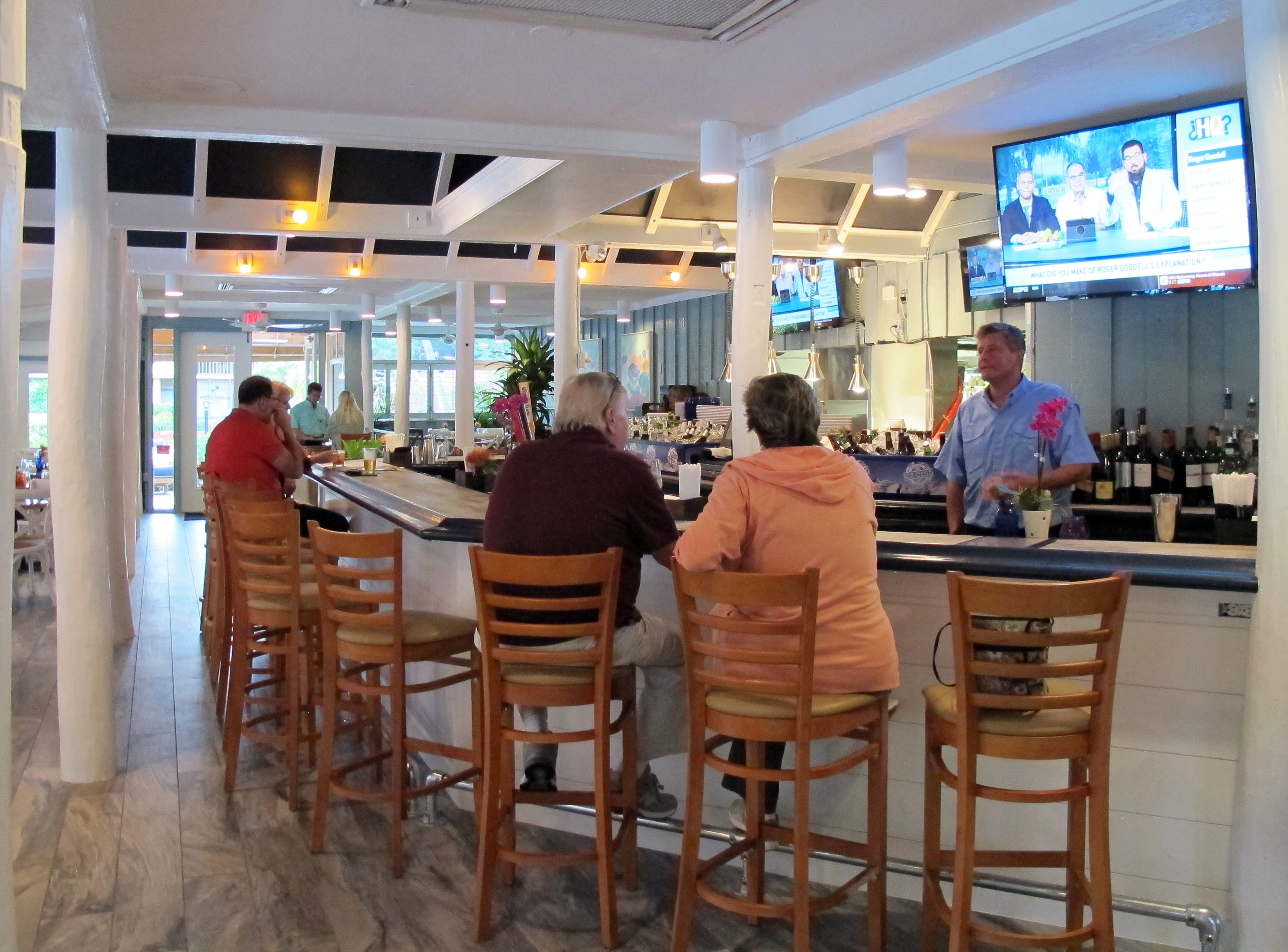 The full bar at the Island Gypsy Poolside Cafe in Park Shore Resort in Naples.