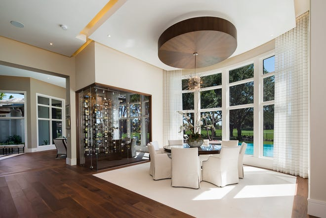 Previously completed Quail West Estate Home model.