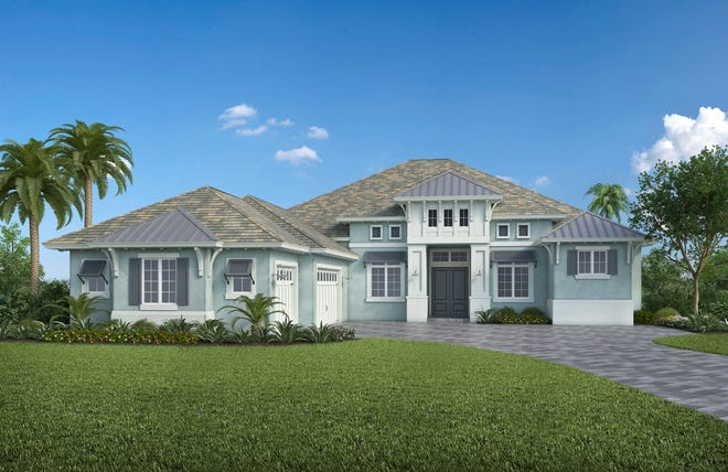Stock Development's furnished Marigold model at Isles of Collier Preserve in Naples.