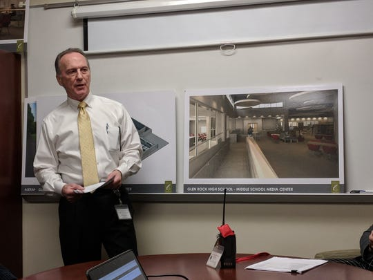 Glen Rock Interim Superintendent Bruce Watson presents renderings of projects included in an upcoming referendum.