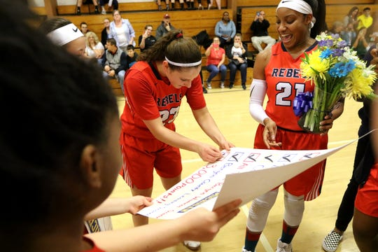Michelle Sidor, checks off another one of her accomplishments as she became the fourth girl in New Jersey high school basketball history to score 3,000 points.