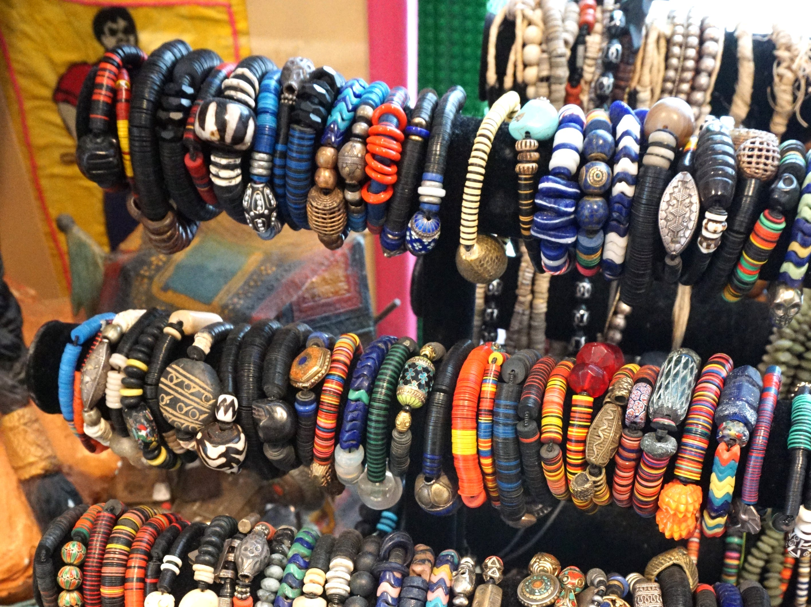 Jolie Altman has lots of bracelets ready to go for this weekend's pop-up shops at the Detroit Foundation Hotel.